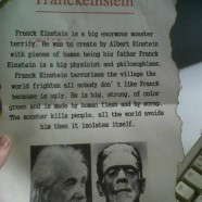 Funny English: Frank Einstein?