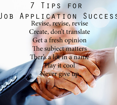 blog post simple tips for successful job applications