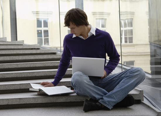 University application writing 5 - man on steps
